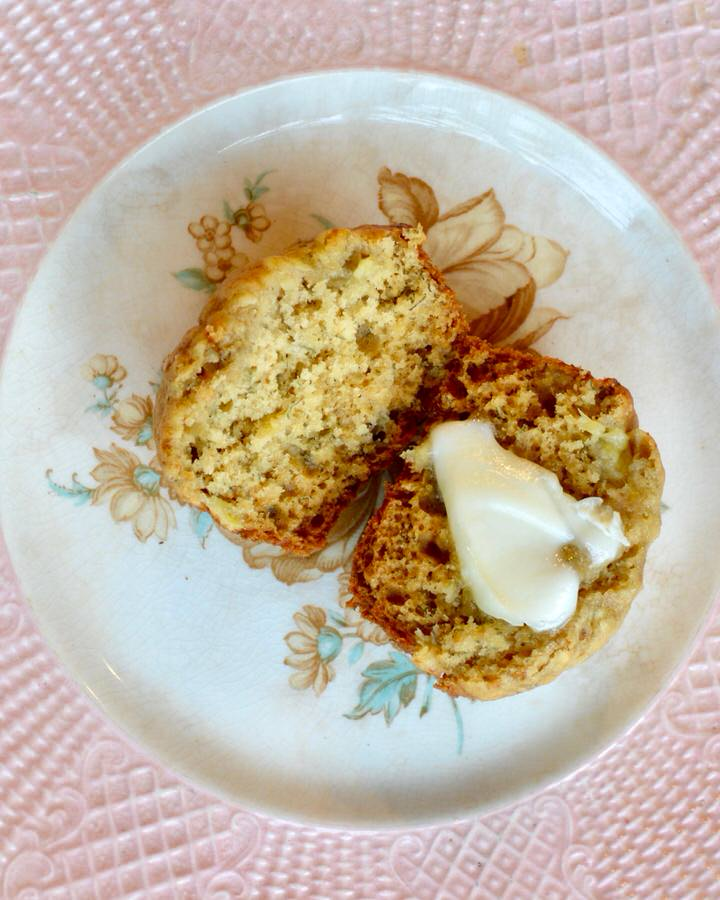 Healthy Everyday Banana Muffin Recipe with NO refined sugar. Perfect for busy mornings, keeps you and the kids happy! So delicious and easy to throw together!