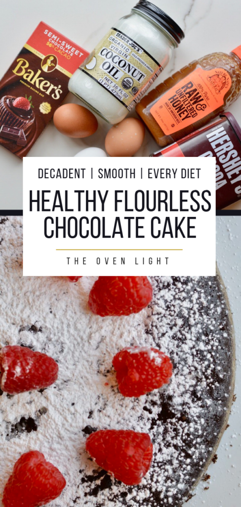 Flourless Chocolate Cake | Simple, natural ingredients, gluten free, refined sugar free and so soft, moist and decadent! #flourless #glutenfree #glutenfreedessert #chocolatecake #flourlesschocolatecake #healthydessert #dessertrecipes