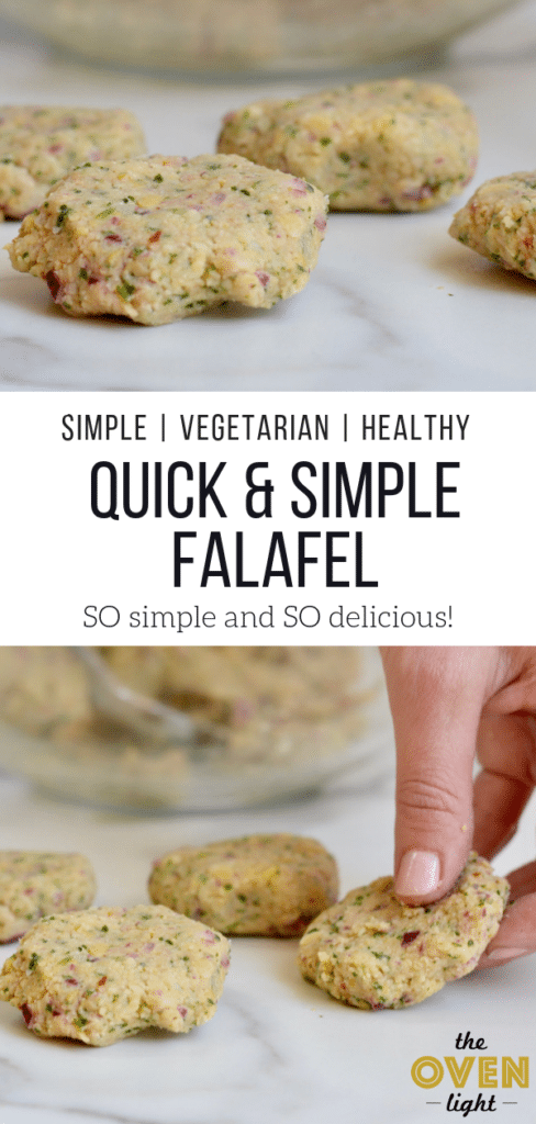 Quick and Simple Falafel Recipe - So delicious, healthy and done in 20 minutes. Comes together in one bowl!