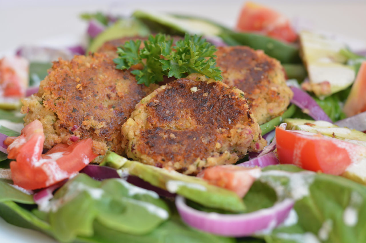 Super Quick Make Ahead Falafel. Add to salad or make it a meal in a gyro. So delicious however you eat it!
