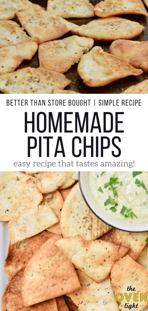 Homemade Baked Pita Chips - Simple recipe with so much flavor! Perfect snack or appetizer!