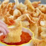 Cream cheese wontons. So easy! So much flavor and so quick to fry up! Great appetizer for any meal!