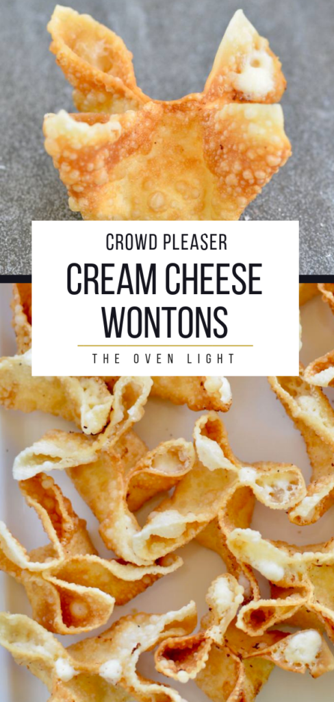 Cream cheese wontons. So easy! So much flavor and so quick to fry up! Great appetizer for any meal! #wontons #creamcheese #appetizer #shallots #asian #fried