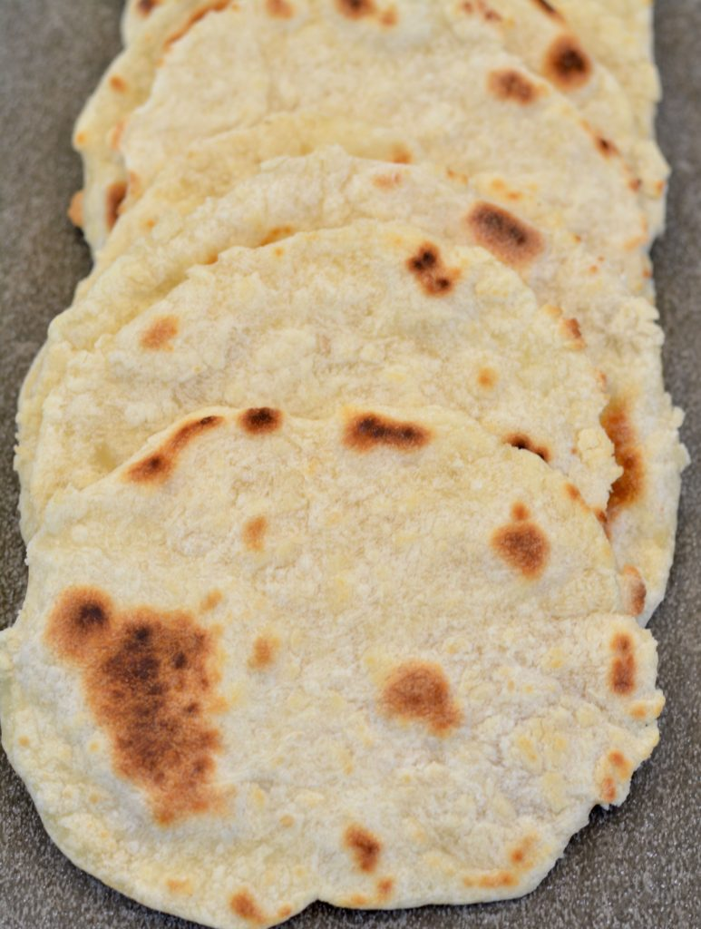 Warm fresh homemade tortillas melt in your mouth with amazing flavor. Worth the little bit of effort.
