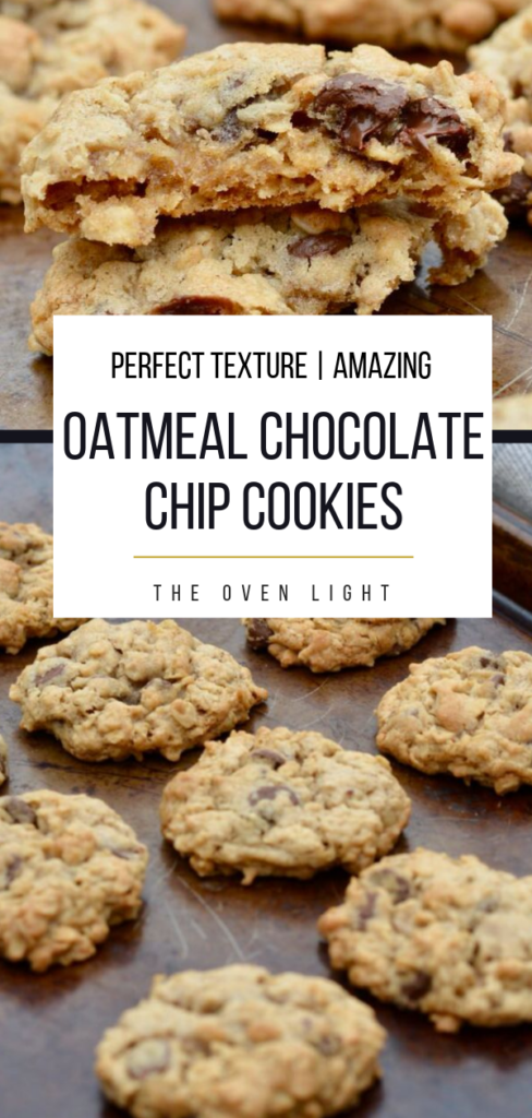 Oatmeal Chocolate Chip Cookies Recipe | Perfect texture, amazing flavor. THE BEST OATMEAL COOKIE EVER! #oatmeal #chocolatechips #cookie #cookierecipe #amazingcookies