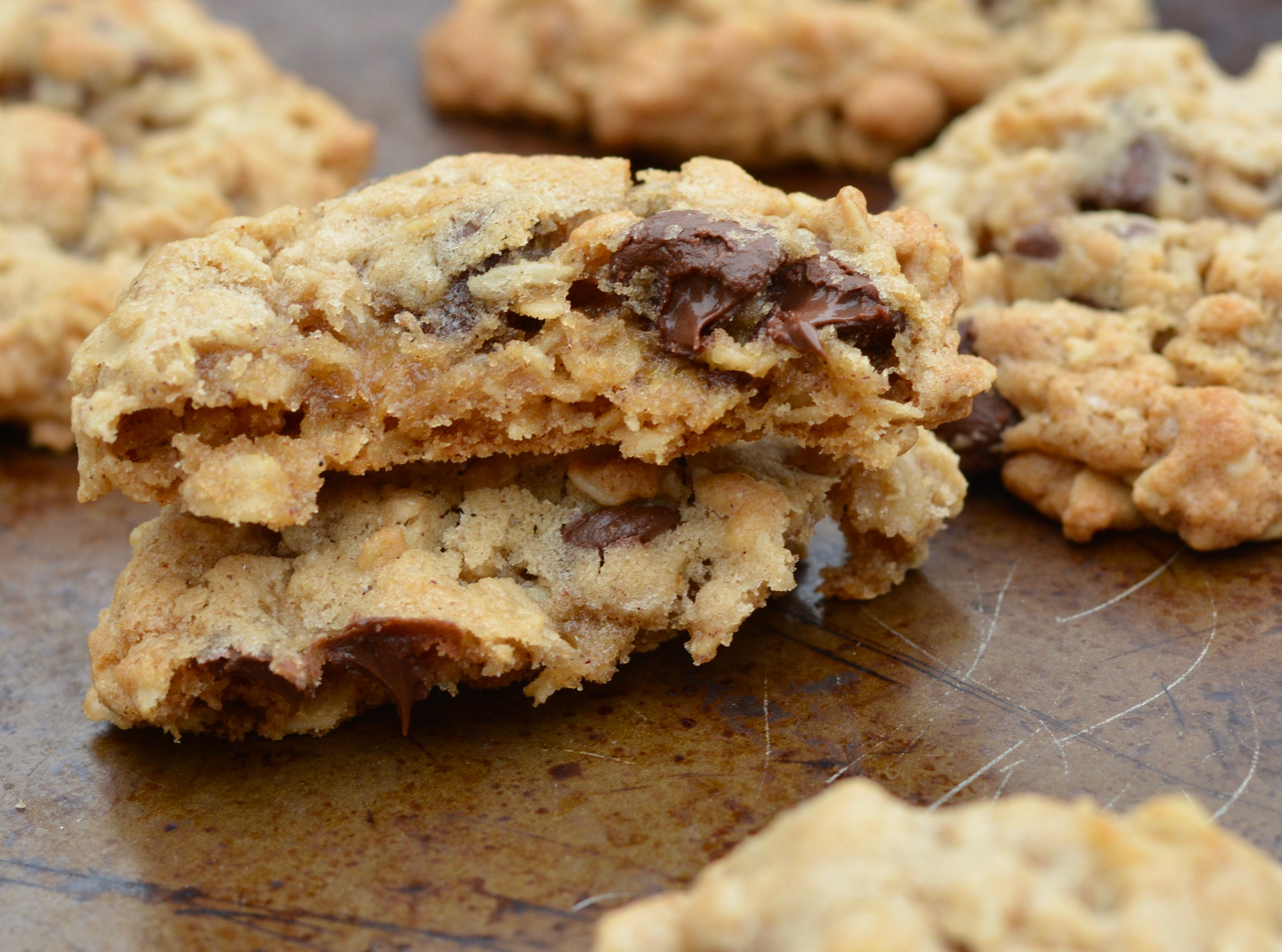 Seriously the BEST oatmeal chocolate chip cookies ever! Grandma's recipe!