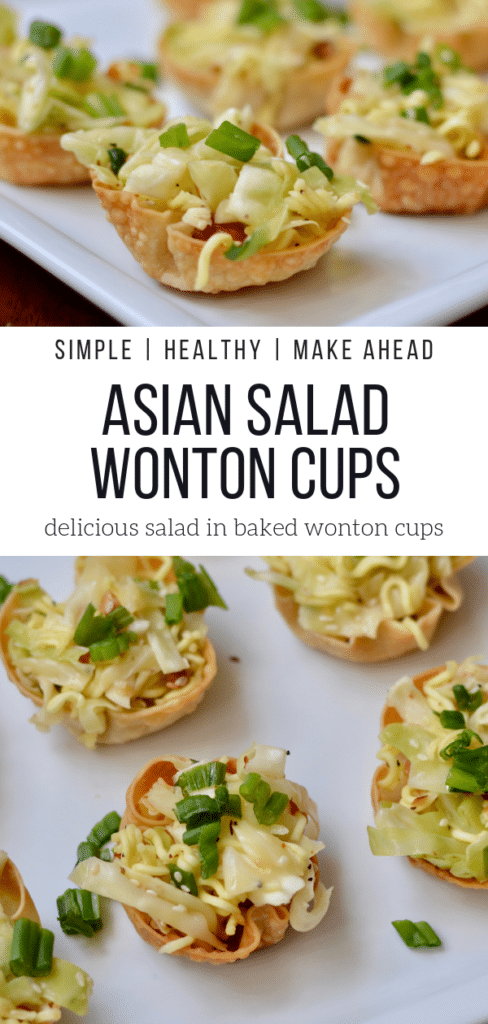 Sumi Salad Cups Baked Wontons Easy Quick