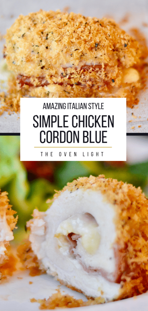 Amazing Chicken Cordon Blue. Simple recipe with Italian seasoning. Great to make ahead, easy enough for a weeknight meal.