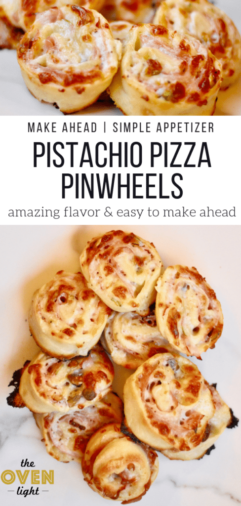 Pistachio Pizza Pinwheels - Such fun ingredients, and so delicious!