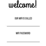 WIFI PASSWORD SHEET FREE PRINTABLE