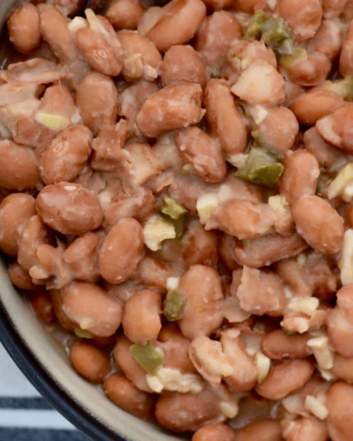Jalapeno Garlic Pinto Beans - Amazing side dish for any Mexican meal