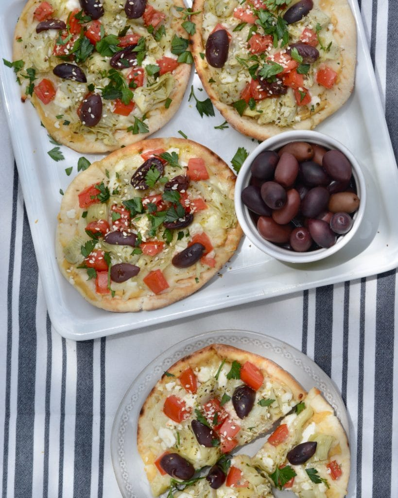 Vegetarian lunch ideas - Simple Greek Pizza
