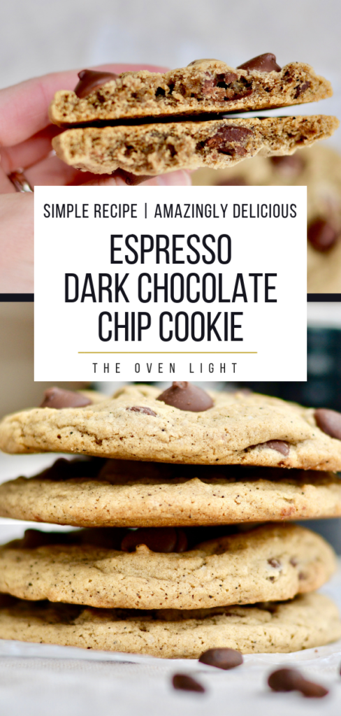 Espresso Cookie Recipe with Dark Chocolate Chips - So delicious and easy to make.